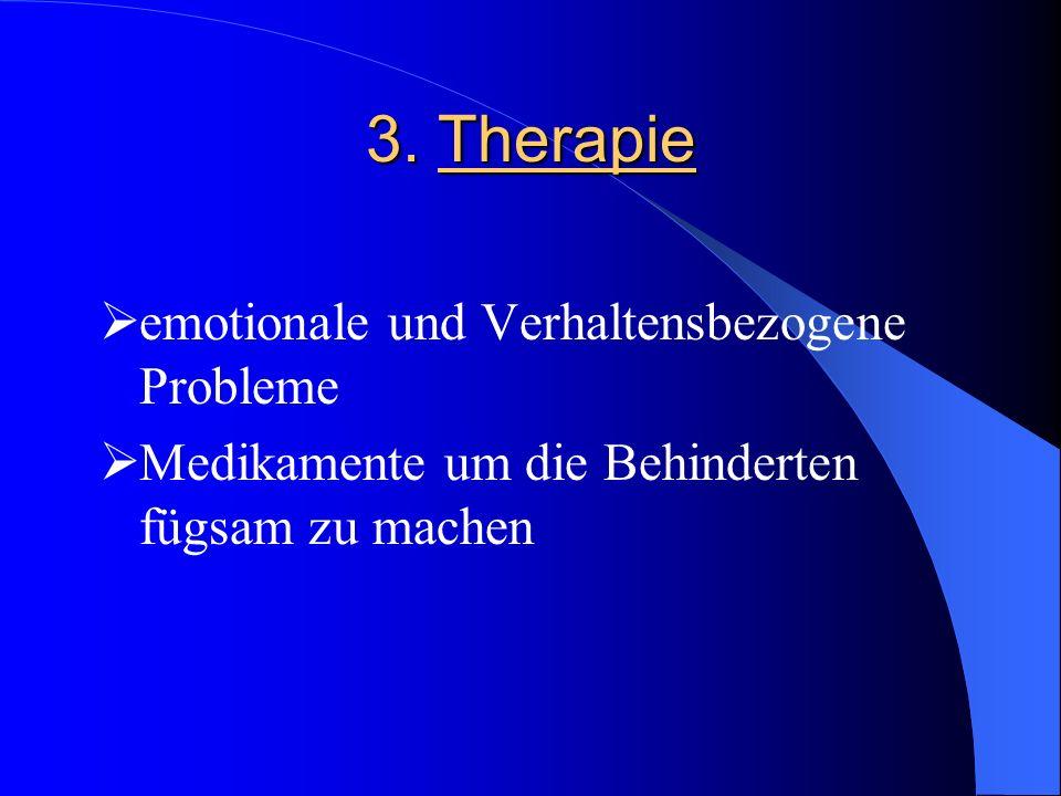 3. Therapie emotionale und Verhaltensbezogene Probleme