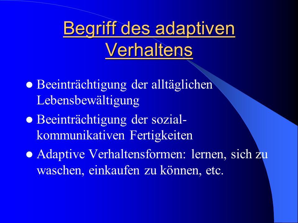 Begriff des adaptiven Verhaltens