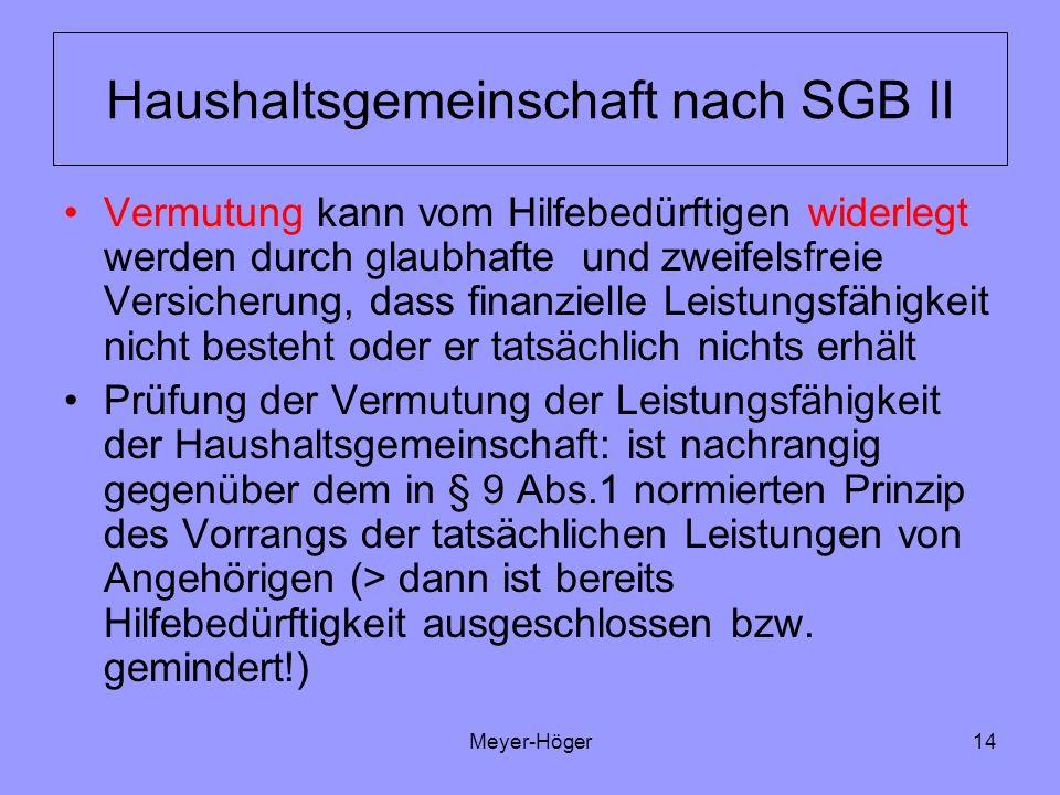 Haushaltsgemeinschaft nach SGB II