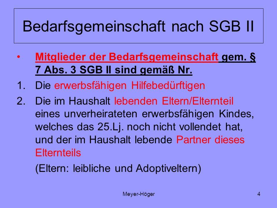 Bedarfsgemeinschaft nach SGB II