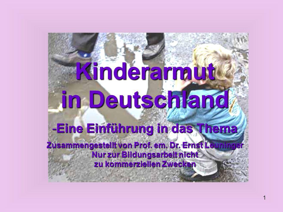 Kinderarmut in Deutschland Eine Einführung in das Thema