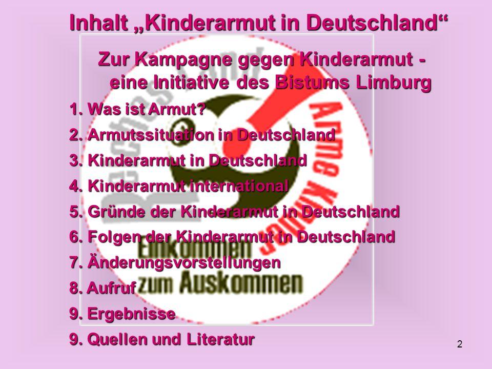 Zur Kampagne gegen Kinderarmut - eine Initiative des Bistums Limburg