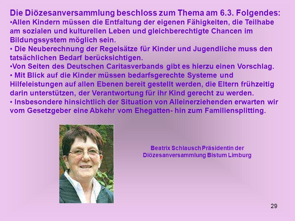 Beatrix Schlausch Präsidentin der Diözesanversammlung Bistum Limburg