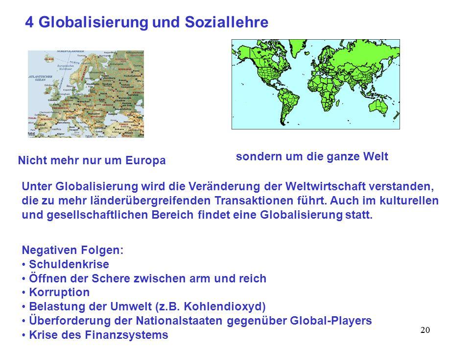 4 Globalisierung und Soziallehre