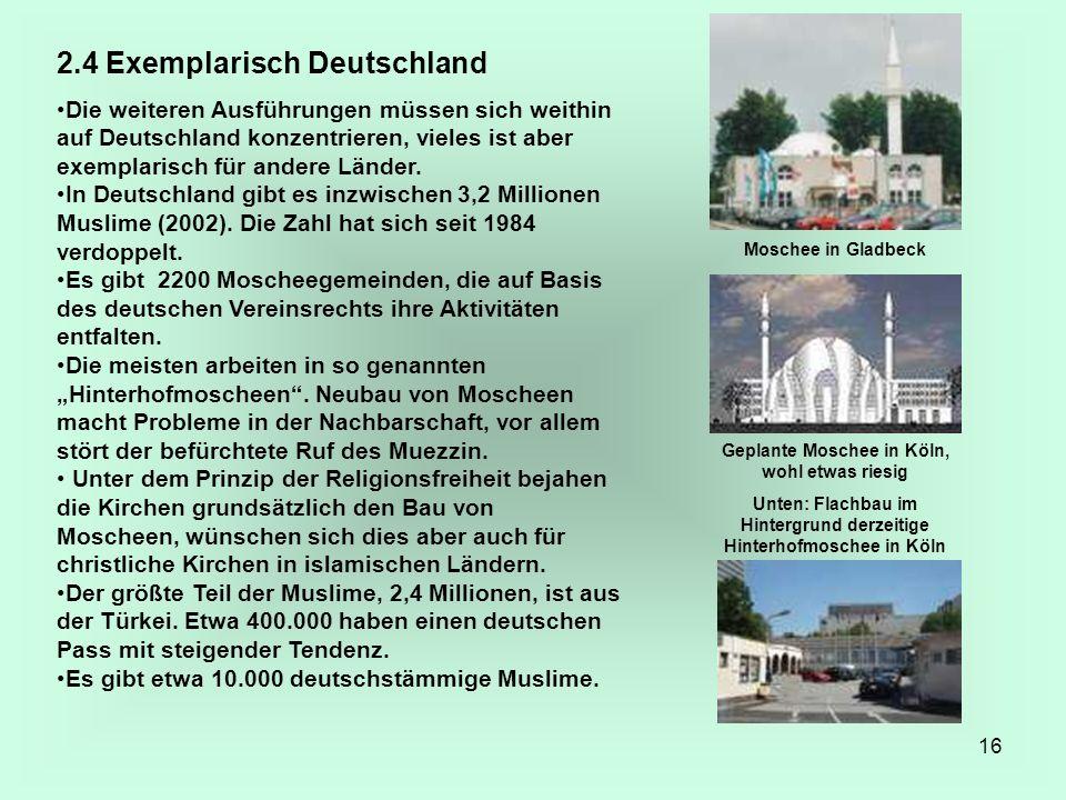 2.4 Exemplarisch Deutschland