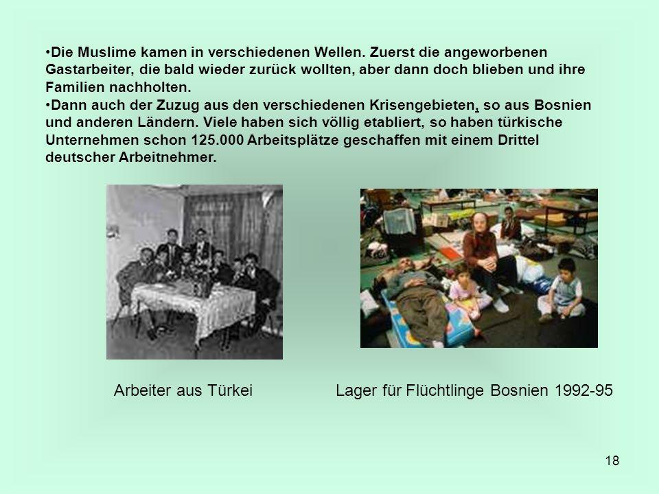 Arbeiter aus Türkei Lager für Flüchtlinge Bosnien 1992-95