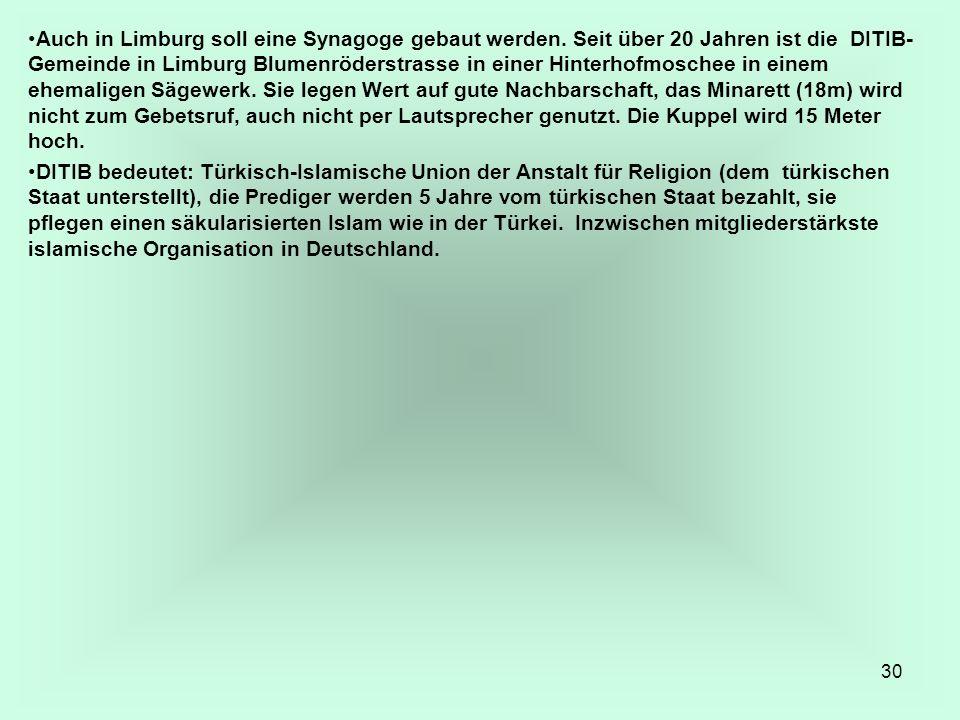 Auch in Limburg soll eine Synagoge gebaut werden