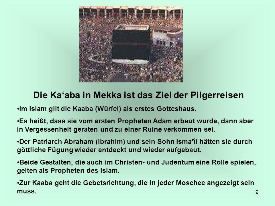 Die Ka'aba in Mekka ist das Ziel der Pilgerreisen