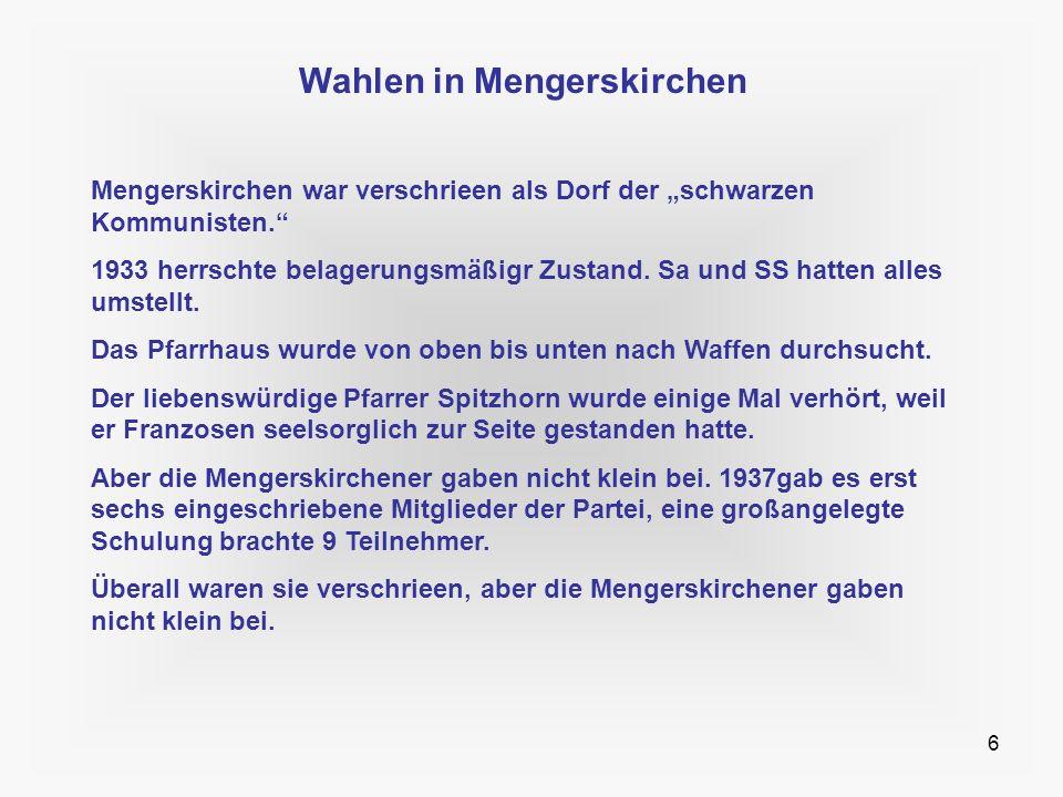Wahlen in Mengerskirchen