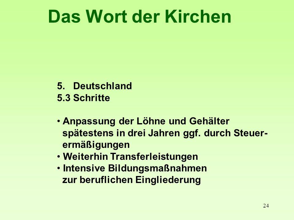 Das Wort der Kirchen 5. Deutschland 5.3 Schritte
