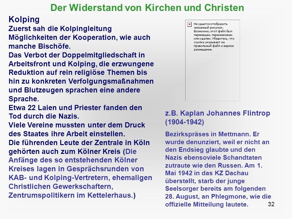 Der Widerstand von Kirchen und Christen