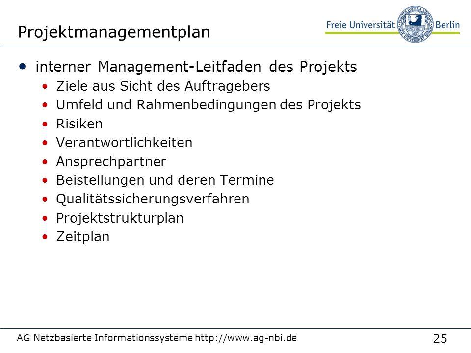 Projektmanagementplan