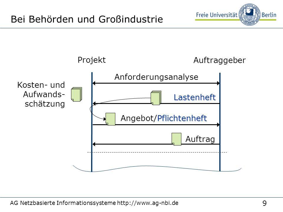 Bei Behörden und Großindustrie