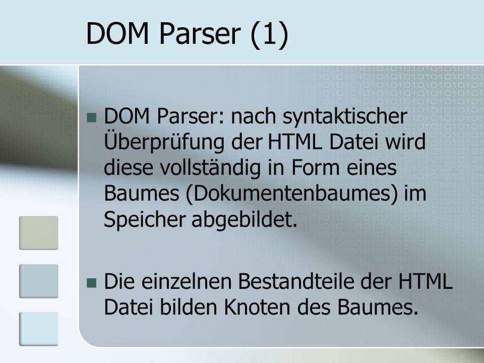 DOM Parser (1)