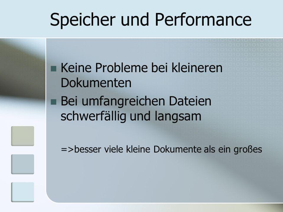 Speicher und Performance