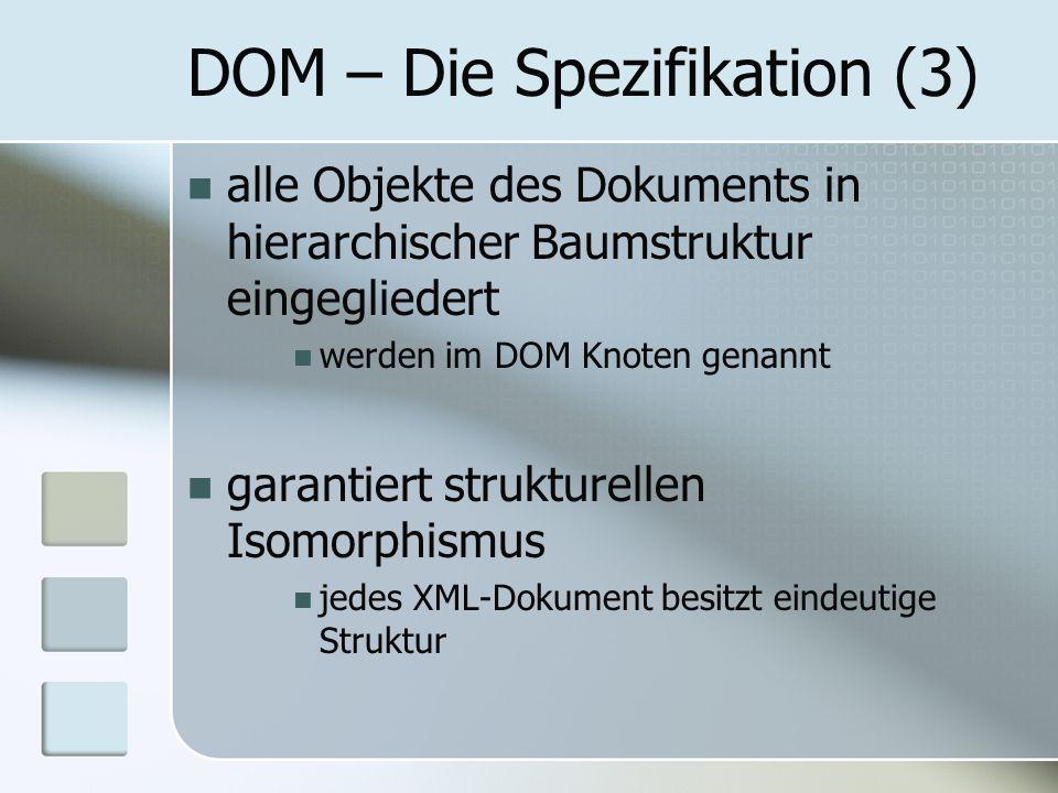 DOM – Die Spezifikation (3)