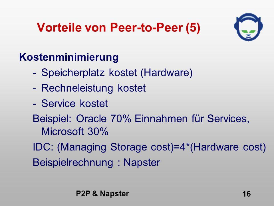 Vorteile von Peer-to-Peer (5)