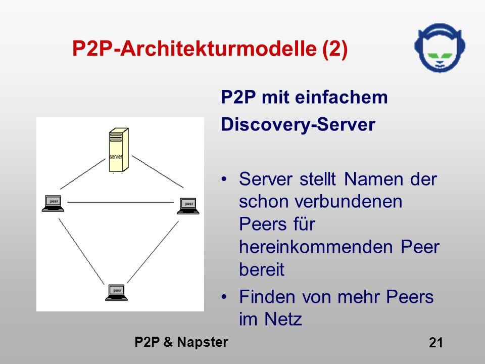 P2P-Architekturmodelle (2)