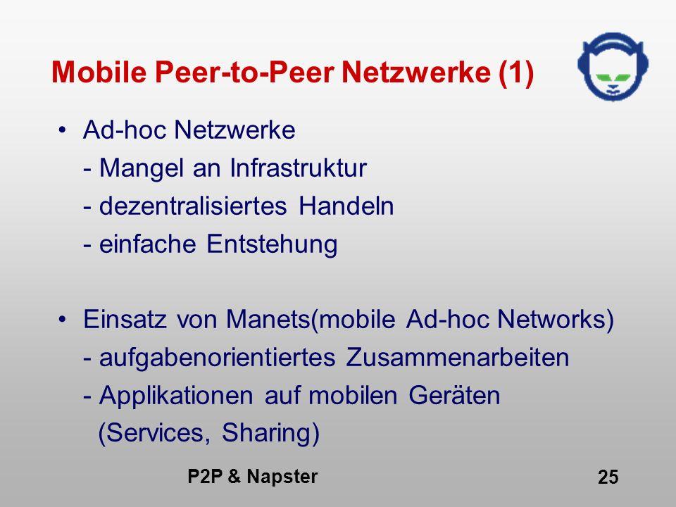 Mobile Peer-to-Peer Netzwerke (1)