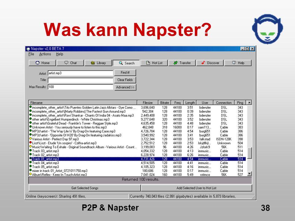 Was kann Napster P2P & Napster