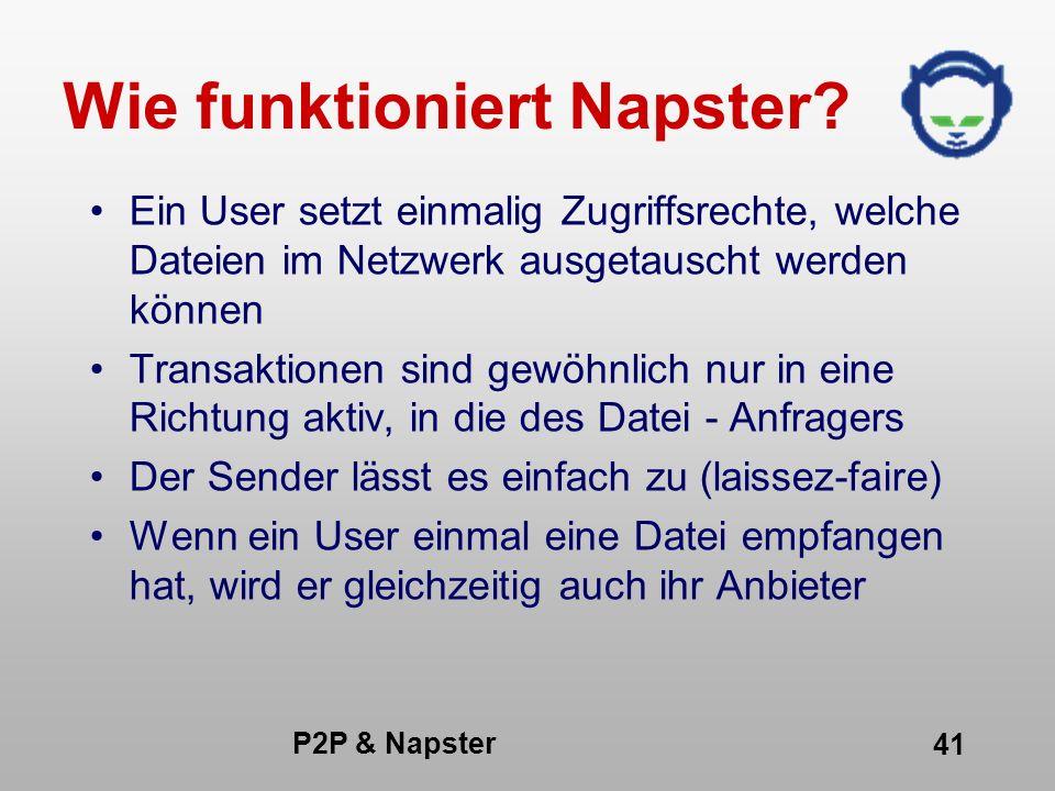 Wie funktioniert Napster