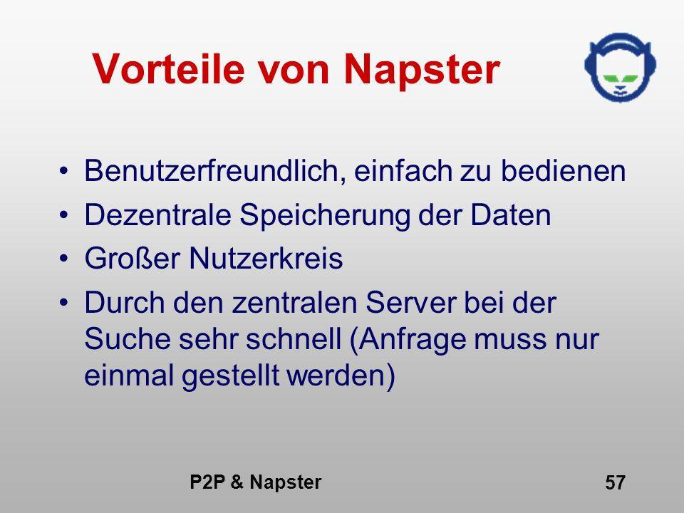 Vorteile von Napster Benutzerfreundlich, einfach zu bedienen