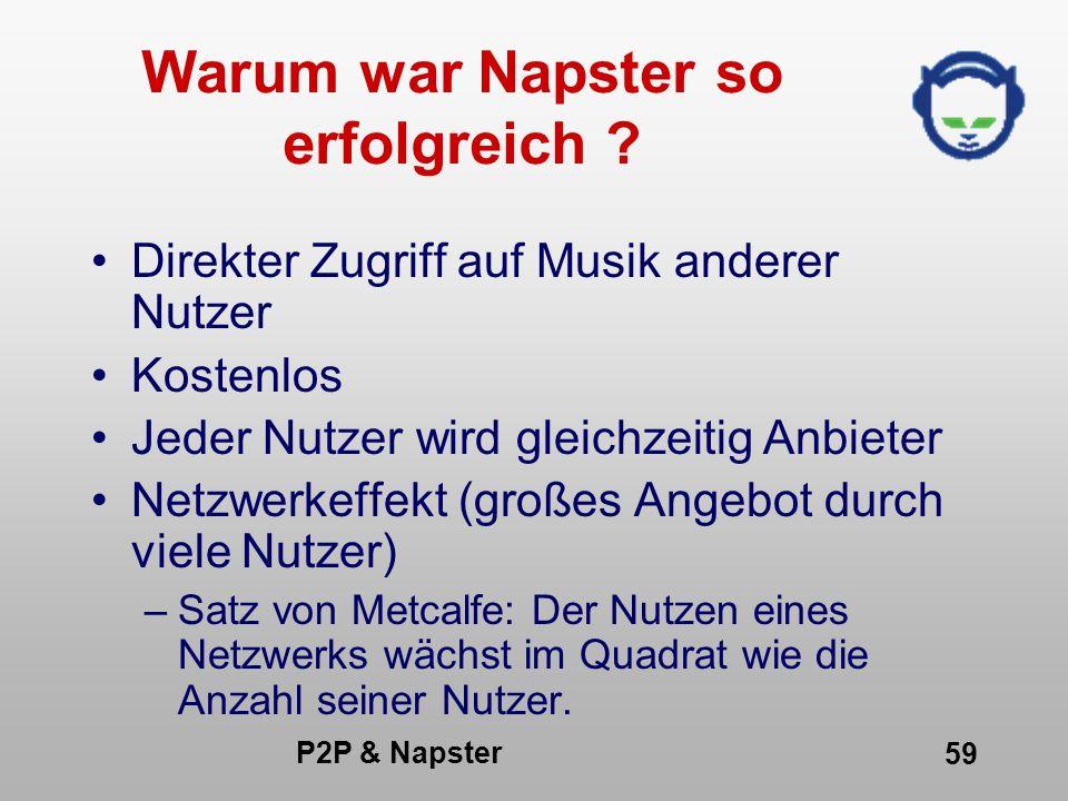 Warum war Napster so erfolgreich