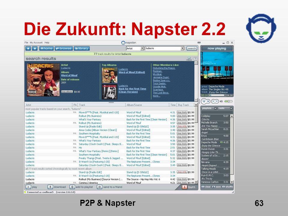 Die Zukunft: Napster 2.2 P2P & Napster