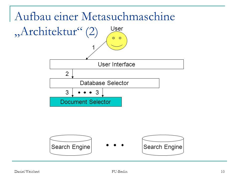 """Aufbau einer Metasuchmaschine """"Architektur (2)"""