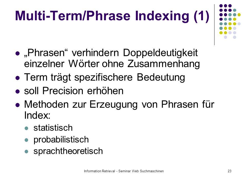 Multi-Term/Phrase Indexing (1)