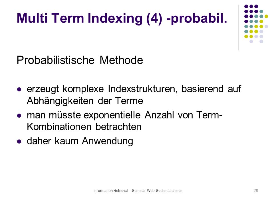 Multi Term Indexing (4) -probabil.