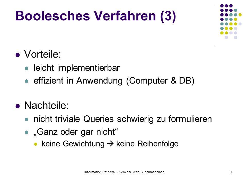 Boolesches Verfahren (3)