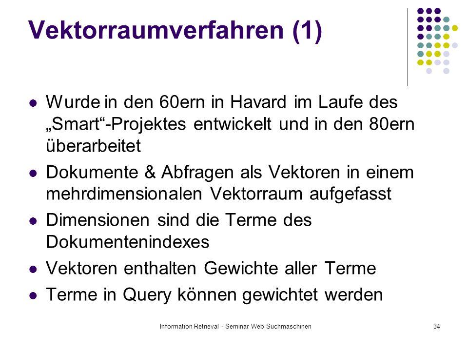 Vektorraumverfahren (1)