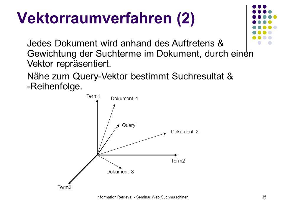 Vektorraumverfahren (2)