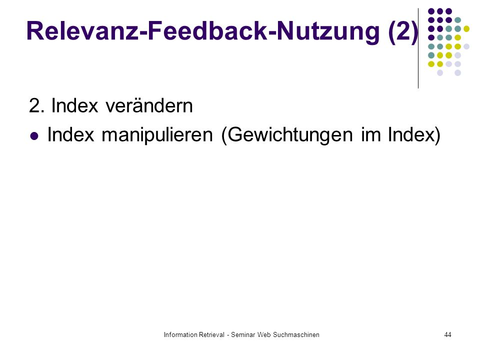 Relevanz-Feedback-Nutzung (2)