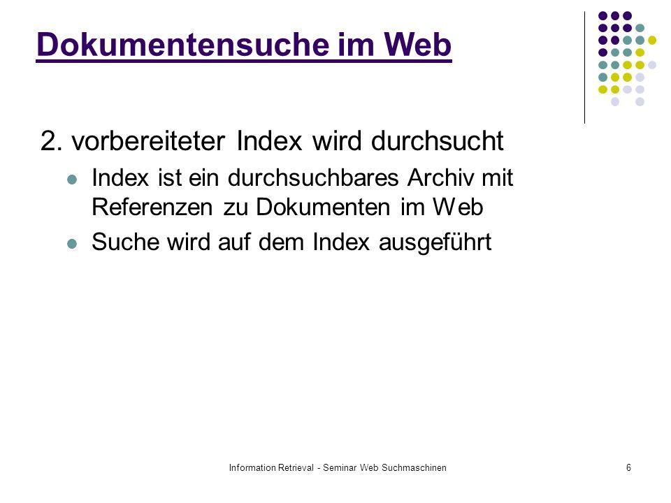 Dokumentensuche im Web