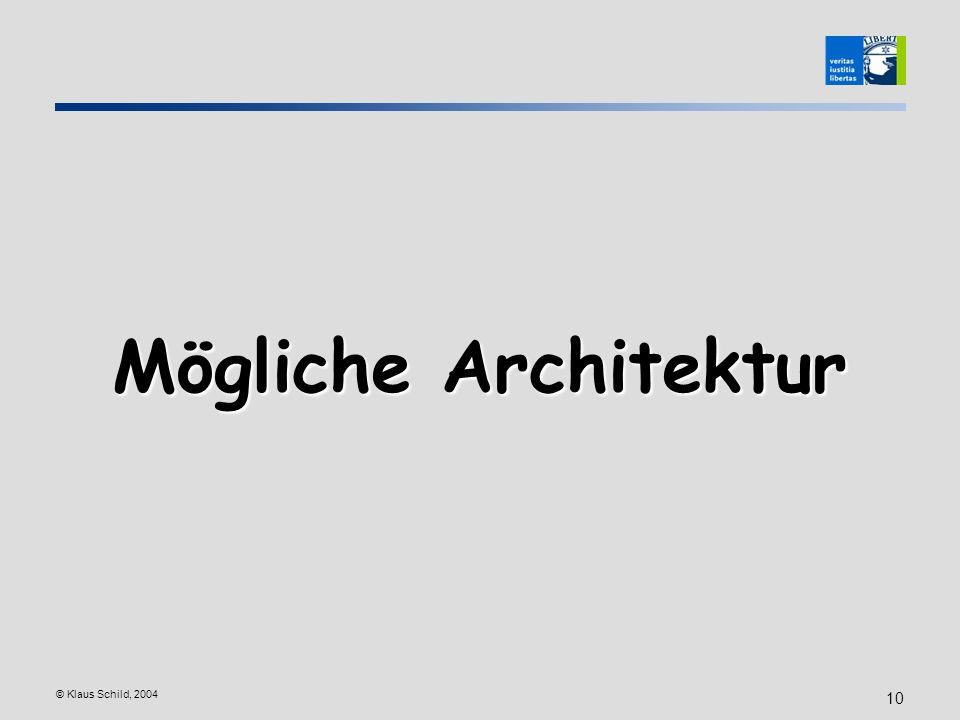 Mögliche Architektur © Klaus Schild, 2004