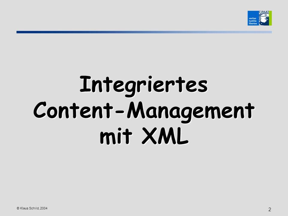 Integriertes Content-Management mit XML