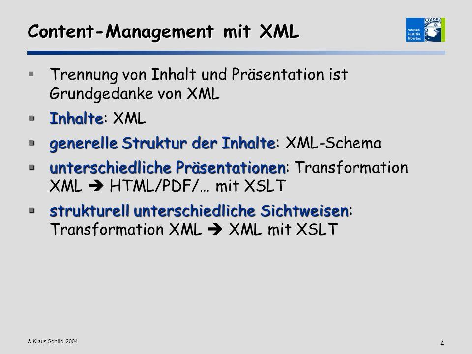Content-Management mit XML