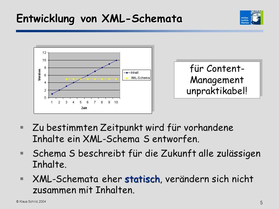 Entwicklung von XML-Schemata