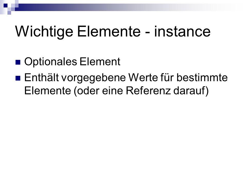 Wichtige Elemente - instance