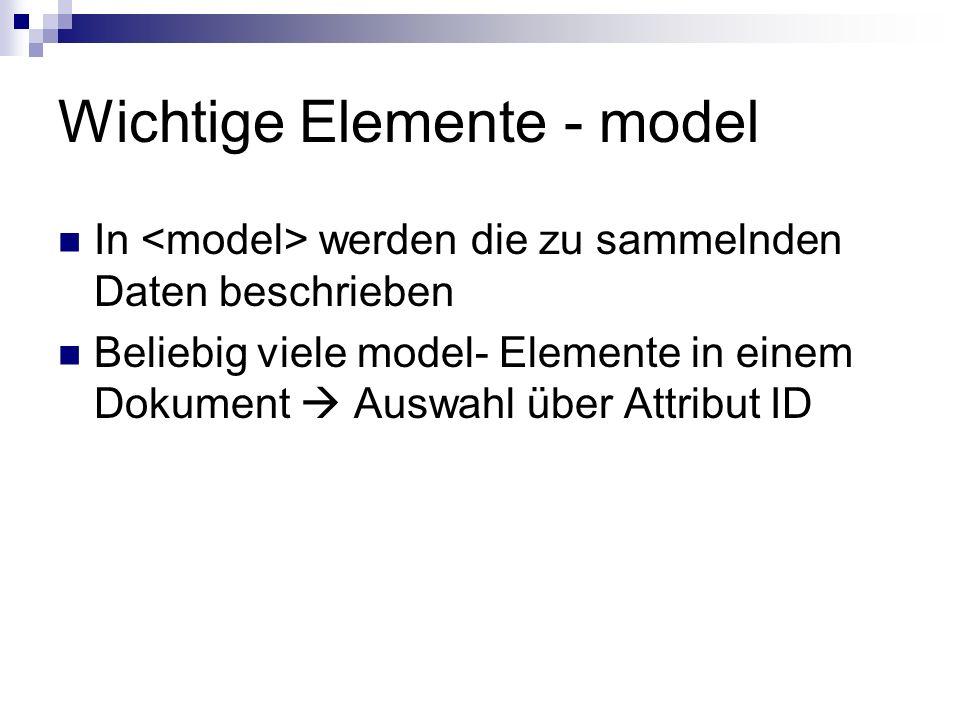 Wichtige Elemente - model