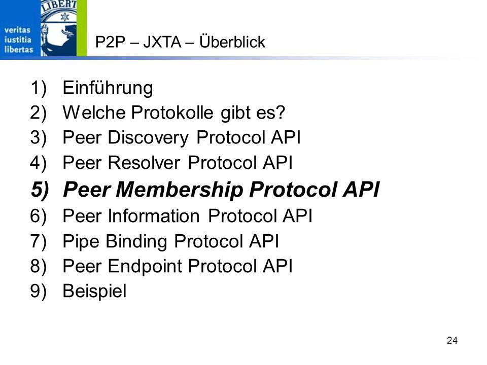 Peer Membership Protocol API