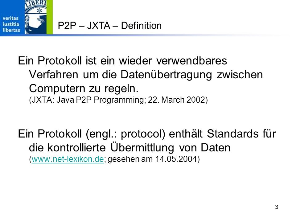 P2P – JXTA – Definition