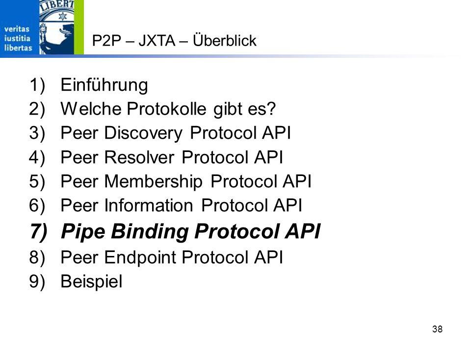Pipe Binding Protocol API