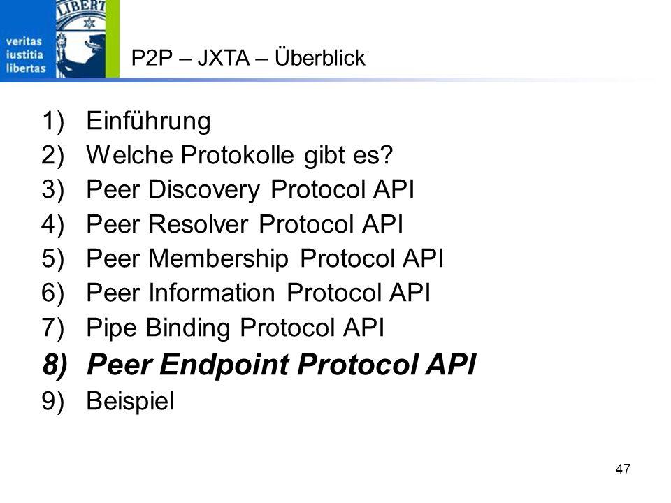 Peer Endpoint Protocol API