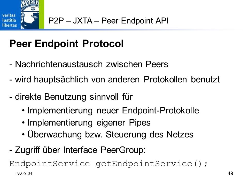 Peer Endpoint Protocol