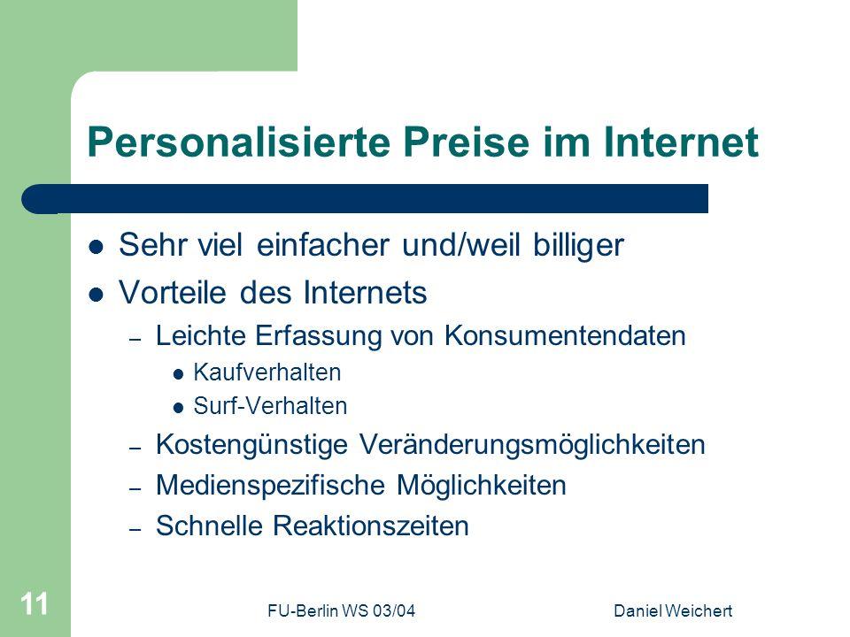 Personalisierte Preise im Internet