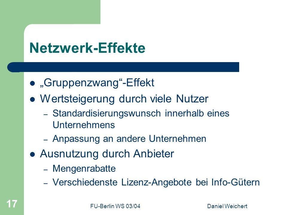 """Netzwerk-Effekte """"Gruppenzwang -Effekt"""