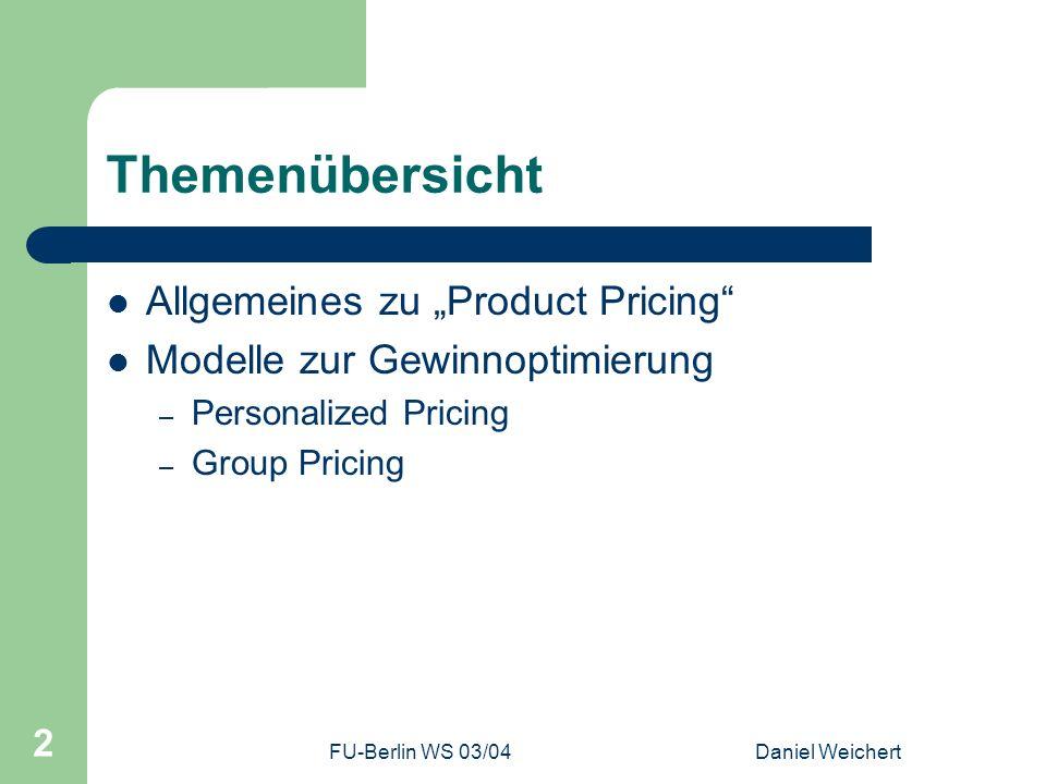"""Themenübersicht Allgemeines zu """"Product Pricing"""
